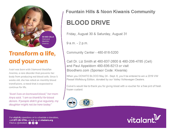 Blood Drive - August 2019