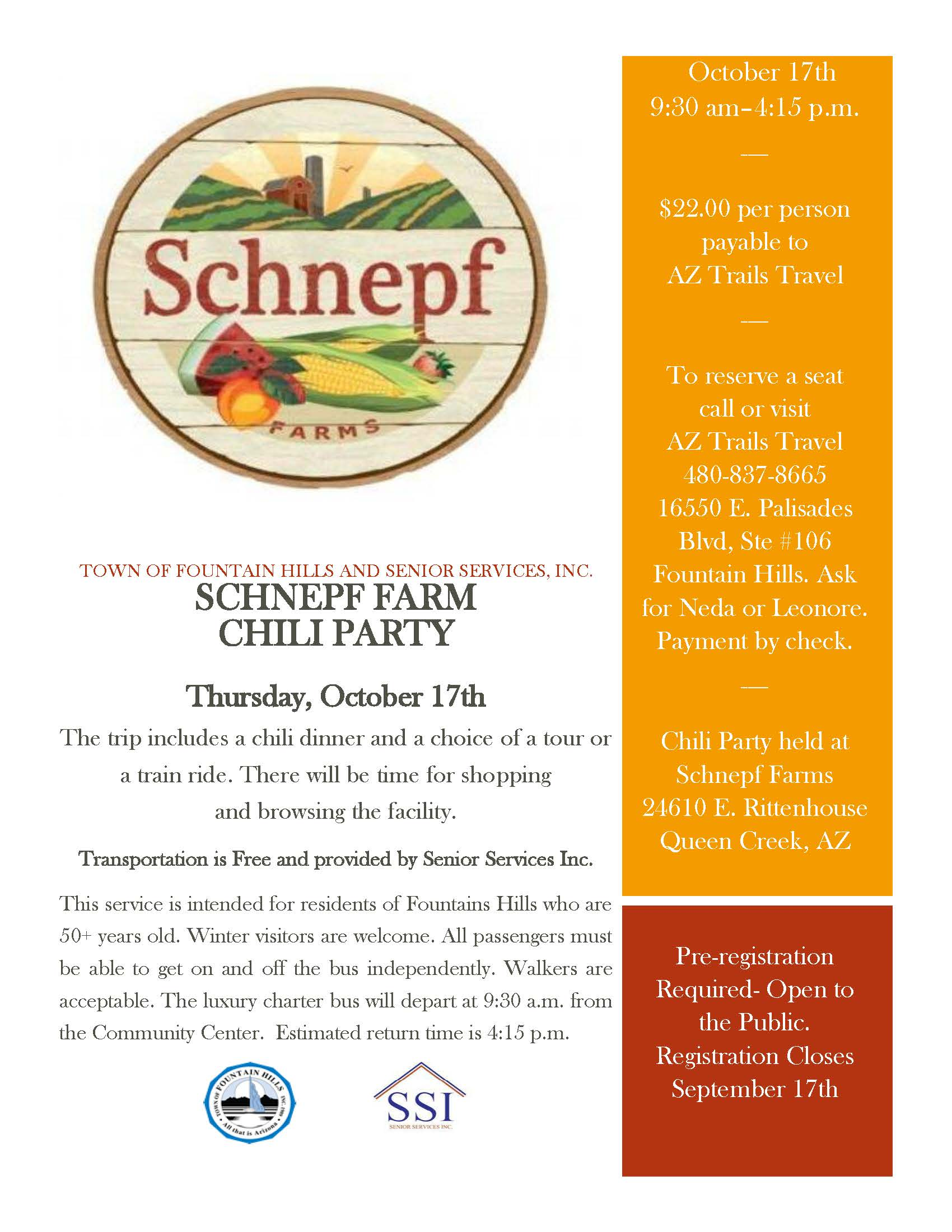Schnepf Farms Trip Flyer