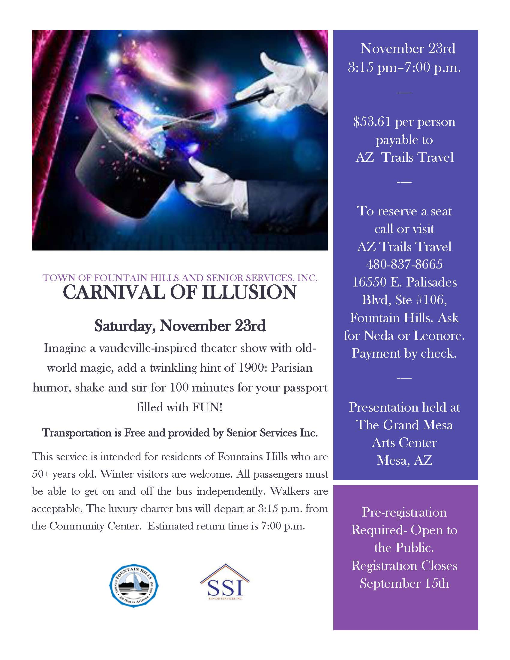 Carnival of Illusion Flyer