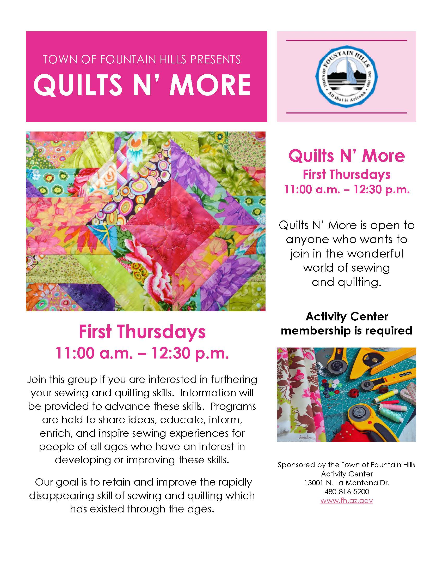 Quilts N  More Flyer