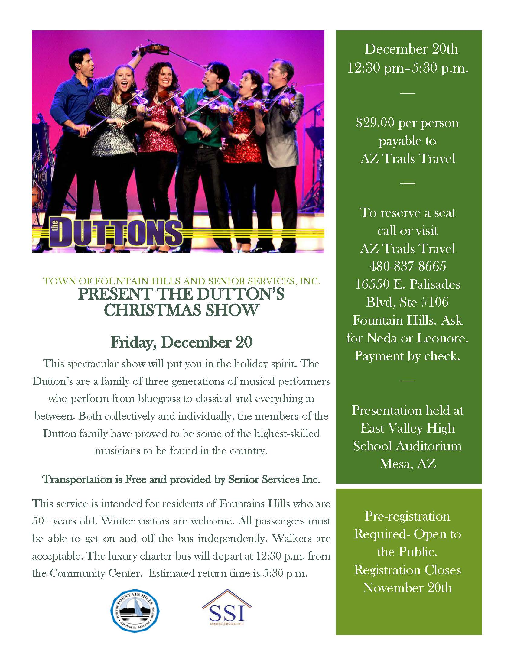 The Dutton Christmas Show Flyer
