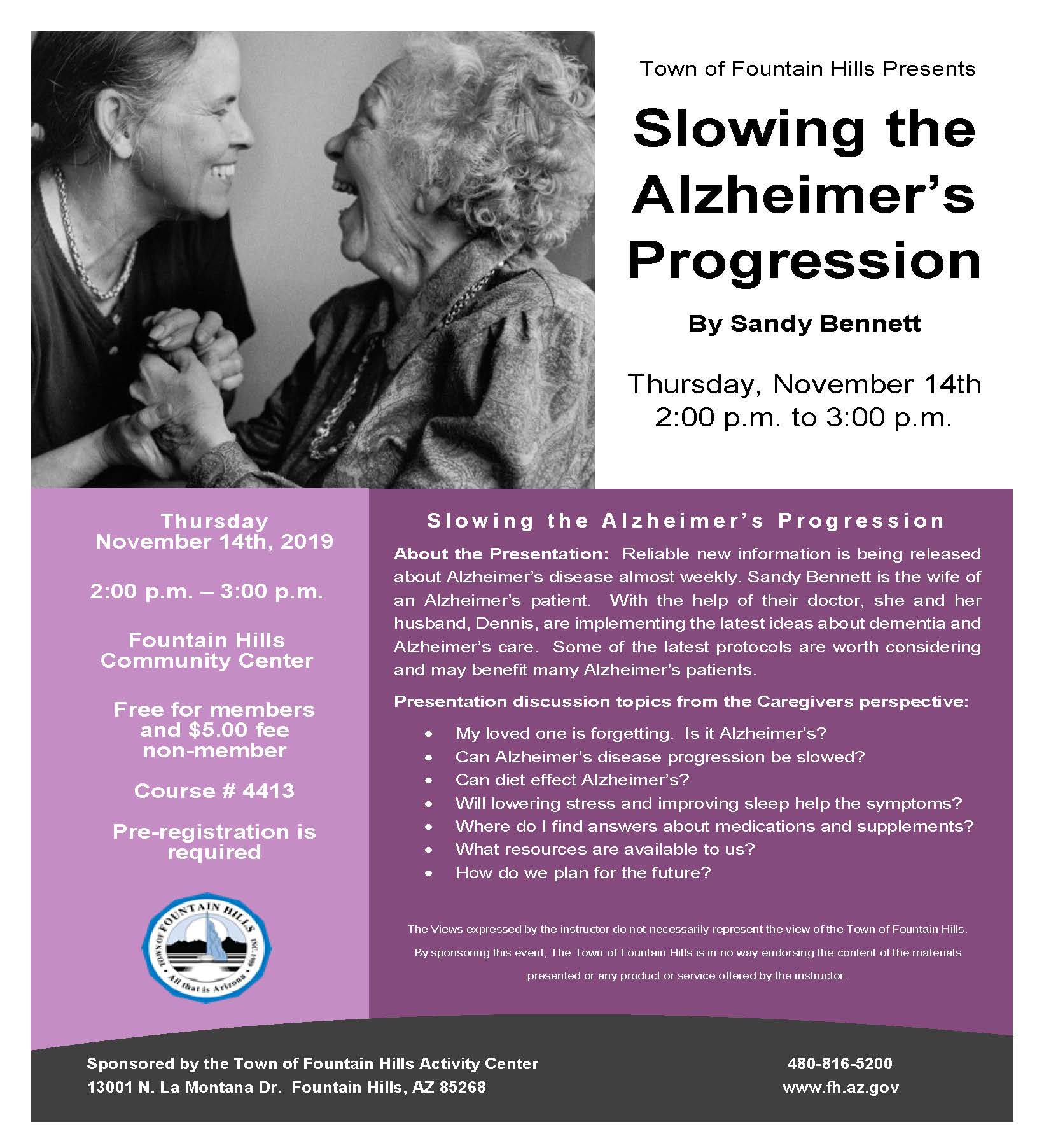 Slowing the Alzheimers Progression