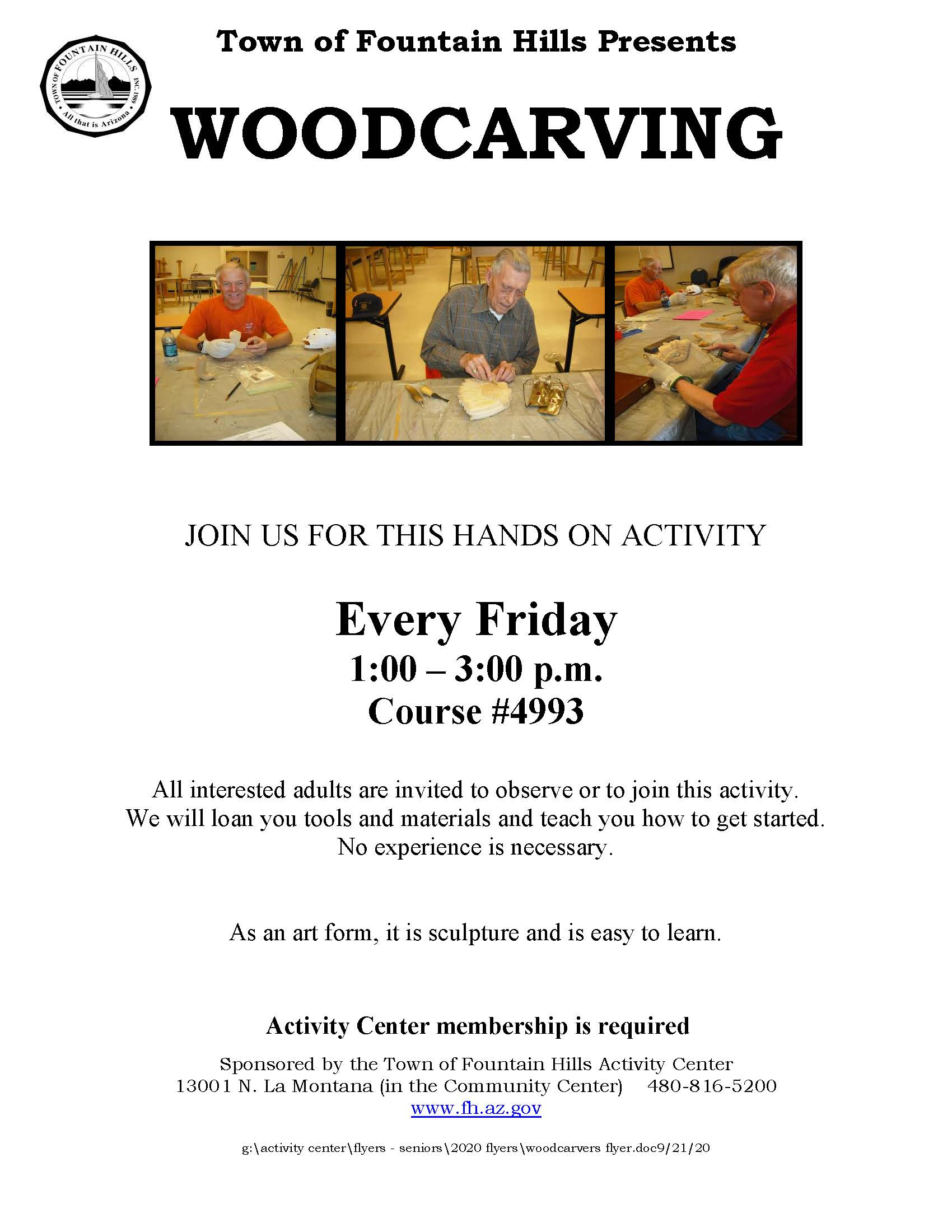 Woodcarvers flyer