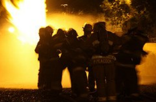 Group of firefighters band together before taking